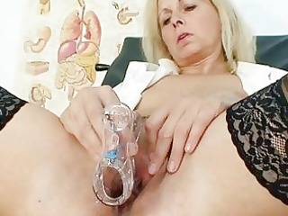 petruse grown-up pussy speculum gaping and