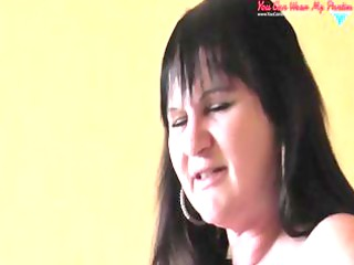 filthy english woman strapon and cumshots covered