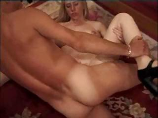 this blonde oldie takes it up her anal and gladly