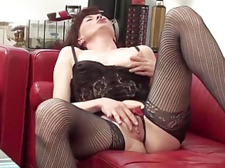 woman in expose hose and brief fisting