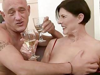 horny granny obtains her hirsute vagina