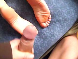 slut sperm on feet soles