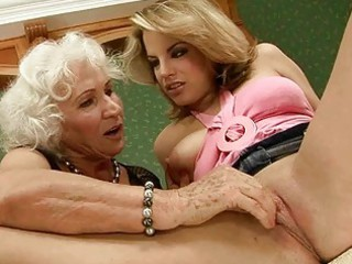 elderly likes drill with amateur beauty