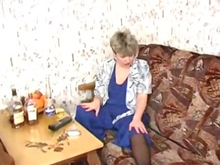 russian mama nineteen granny with a youthful mate