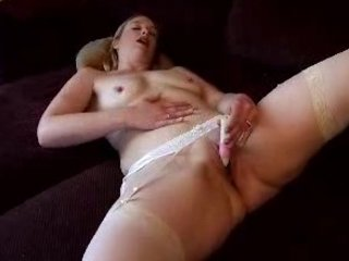 desperate woman armchair masturbation