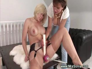 naughty milf playing her sex mechanism
