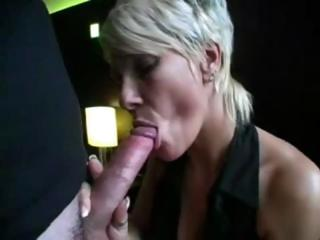blond lady sucks on a long dick and next obtains