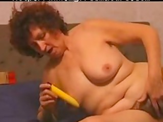 hairy mature enjoys her device older cougar fuck