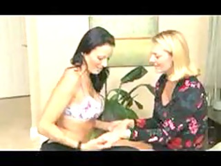 two sexy homosexual woman mothers