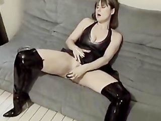 wonderful maiden inside galoshes likes with dildo