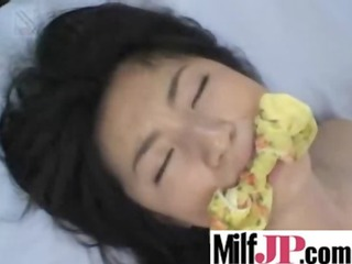 cute japanese lady girl get pierced uneasy clip-32