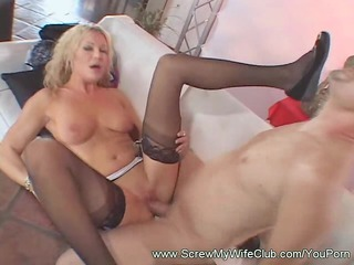 pale lady licking the cum