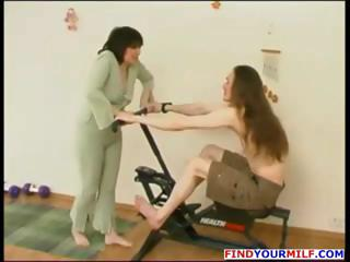 brunette mature russian housewife blows him and