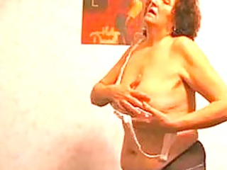 hairy granny worships her vibrator