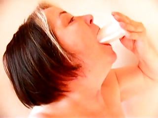 old amp fucking her throat with a vibrator
