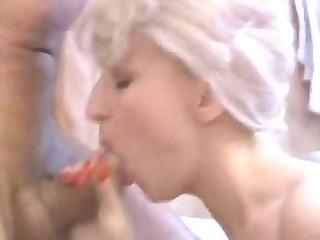 blonde belle whore sucks for facial