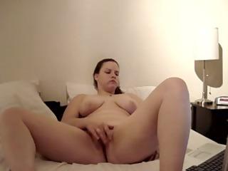 ex lady misty pushing dildo
