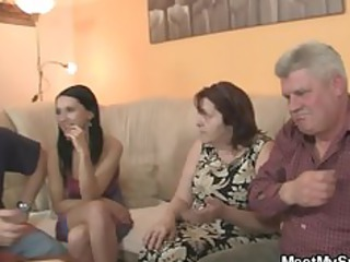 his gf is seduced by elderly milf and fucked by