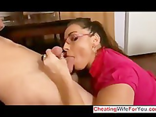 bbw house babe get a filling in