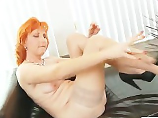ginger mom sex toys hirsute pussy