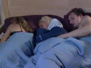 while milf sleeps brat and boyfriend tease