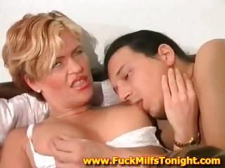 sweet blonde woman is cheating her dude with two