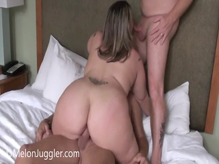 plump lady does her hubby and his boss