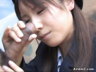 japanese momo aizawa gives an al fresco cock