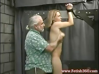 blond cougar girl is tied up and obtains her butt