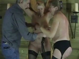 two mature fresh slaves inside sexual torture