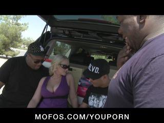 large boob & butt horny blonde angel fucks
