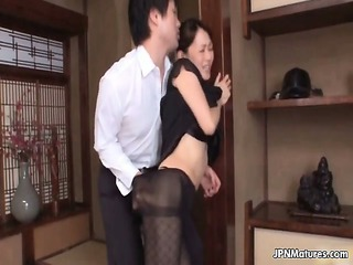 charming japanese getting nude her rough