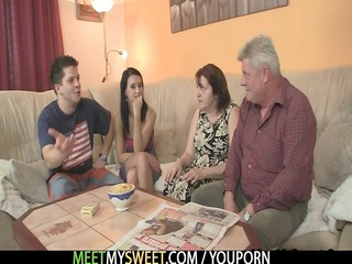 she is seduced by his granny parents