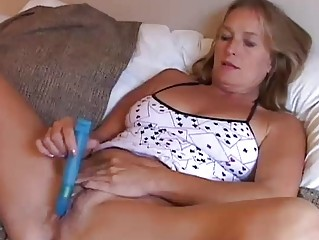 mature angel enjoys a smoke and a wank