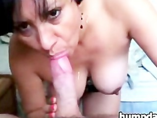 awesome grown-up girl with nice breast gives so
