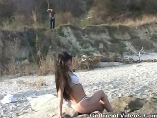 french mature girl banged on sea coast