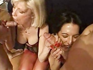 foursome gang-banging joy with super and hairy