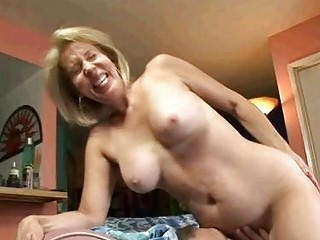 blond granny licks on dick next acquires her