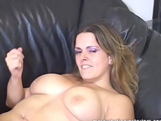 masturbation coach flaunts her giant boobs to