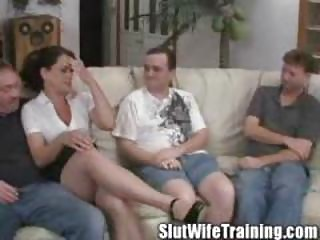 maiden holly acquires gangbanged on her training