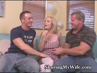 cuckold craving babe gang-banged by pals