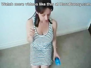 lady puts a condom on her son hornbunny.com
