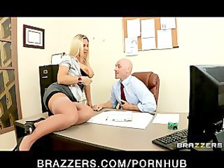 big-tit underwear clad secretary devon lee bangs