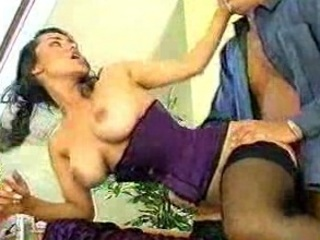 busty retro lingerie woman
