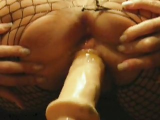 cougar acquires very wet while dildoing from
