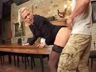 skinny mature babe assfucked on stall