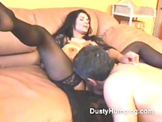 mature brunette gang-bangs an ancient boy as his