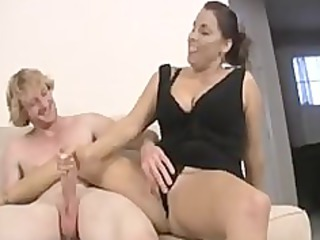babe and not her daughter share cock
