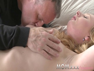 milf grown-up blond teaches him a something or two