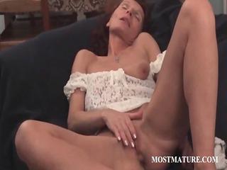 skinny mature fingering her vagina